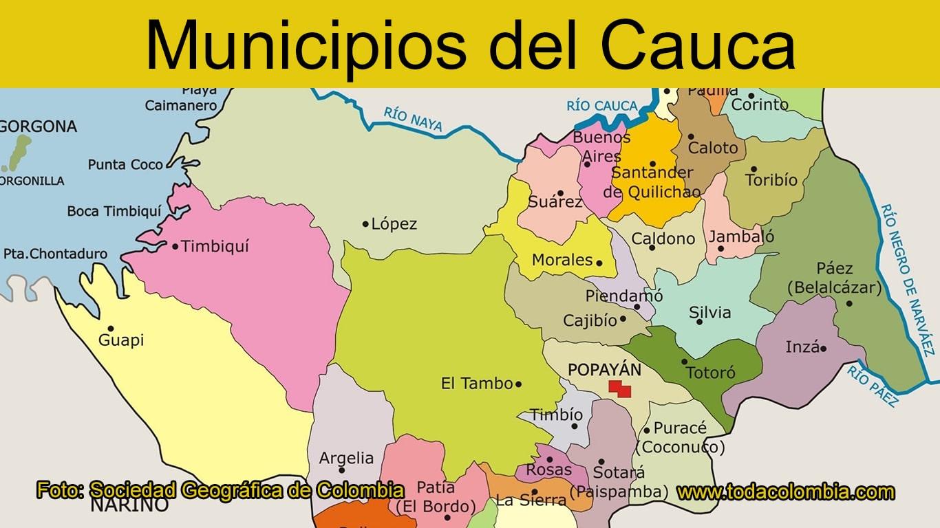 Picture of: Municipios Del Cauca Division Politica Departamento Del Cauca Colombia Listado De Municipios