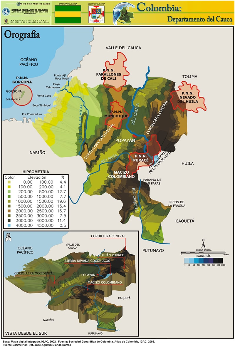 Picture of: Relieve Del Cauca Relieve Departamento Del Cauca Colombia