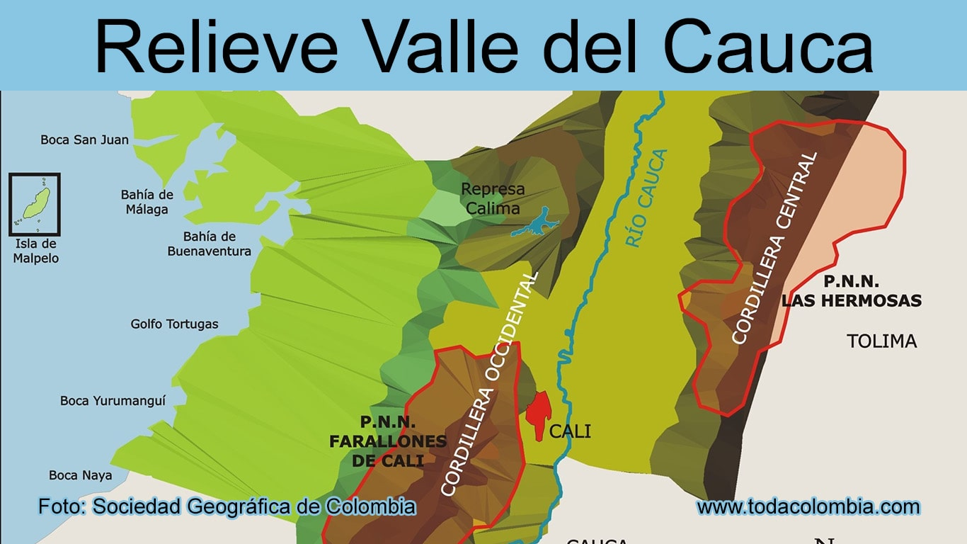 Cauca plano del buenaventura de colombia valle Buenaventura Map
